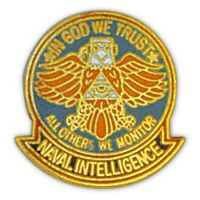 NAVAL INTEL EAGLE HAT PIN
