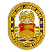 USS NEW JERSEY HAT PIN - HATNPATCH