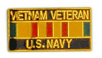 VIETNAM VET USN HAT PIN - HATNPATCH