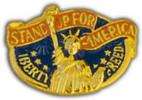 STAND UP AMERICA HAT PIN