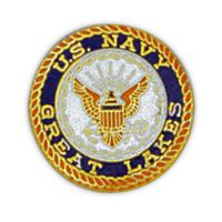 USN GREAT LAKES HAT PIN