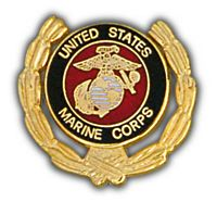 USMC WREATH HAT PIN