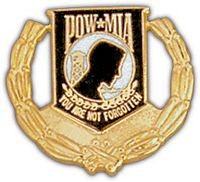 MIA/POW WREATH HAT PIN - HATNPATCH