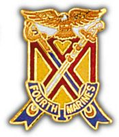 4TH MARINES HAT PIN