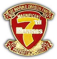 7TH MARINES HAT PIN