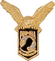 POW WITH EAGLE HAT PIN - HATNPATCH