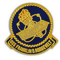 USS FRANKLIN ROOSEVELT HAT PIN