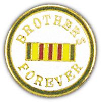 ROUND VIETNAM BROTHERS FOREVER HAT PIN - HATNPATCH