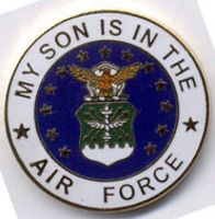 MY SON IS IN THE AIR FORCE HAT PIN