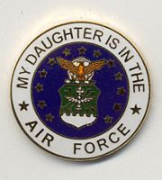 MY DAUGHTER IS IN THE AIR FORCE HAT PIN - HATNPATCH