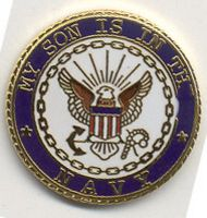 MY SON IS IN THE USN HAT PIN