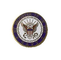 MY DAUGHTER IS IN THE USN HAT PIN