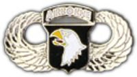 101ST AIRBORNE WINGS HAT PIN
