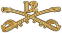 12TH CAVALRY CROSSED SABERS HAT PIN