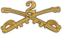2ND CAVALRY CROSSED SABERS HAT PIN - HATNPATCH