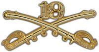 19TH CAVALRY DIVISION CROSSED SABERS HAT PIN