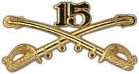 15TH CAVALRY DIVISION CROSSED SABERS HAT PIN