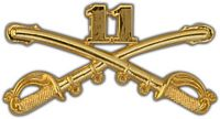 11TH CAVALRY CROSSED SABERS HAT PIN - HATNPATCH