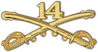 14TH CAVALRY DIVISION CROSSED SABERS HAT PIN