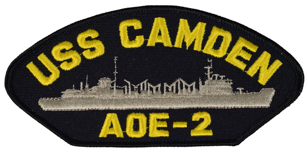 USS CAMDEN AOE-2 SHIP PATCH - GREAT COLOR - Veteran Owned Business