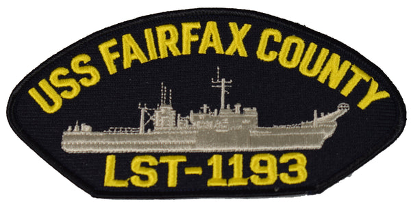 USS FAIRFAX COUNTY LST-1193 SHIP PATCH - GREAT COLOR - Veteran Owned Business