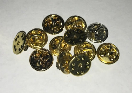 Metal Pin Backings - 12