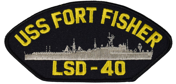 USS FORT FISHER LSD-40 SHIP PATCH - GREAT COLOR - Veteran Owned Business - HATNPATCH