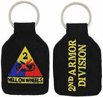 US ARMY SECOND 2ND ARMOR DIVISION AD HELL ON WHEELS KEY CHAIN VETERAN