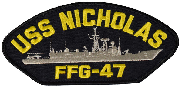 USS NICHOLAS FFG-47 SHIP PATCH - GREAT COLOR - Veteran Owned Business
