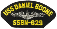 USS Daniel Boone SSBN-629 Ship Patch - Great Color - Veteran Owned Business