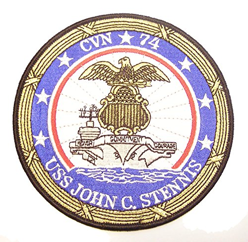 USS JOHN C. STENNIS CVN-74 CRUISE JACKET PATCH - COLOR - Veteran Owned Business.