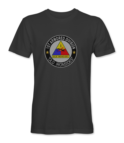 1st Armored Division 'Old Ironsides' T-Shirt - HATNPATCH