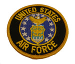 "UNITED STATES AIR FORCE 3"" ROUND PATCH - Color - Veteran Owned Business. - HATNPATCH"