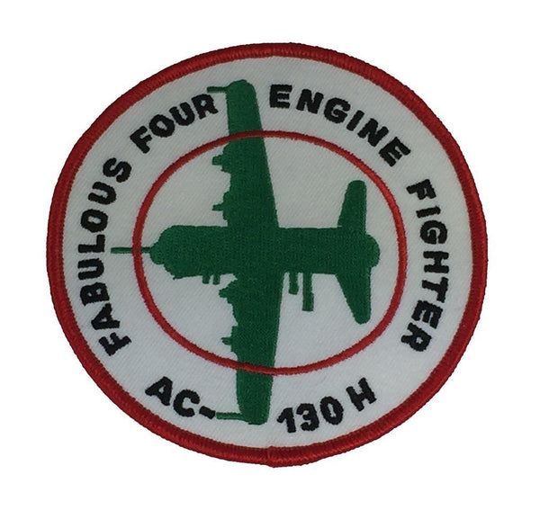 FABULOUS FOUR ENGINE FIGHTER AC-130H PATCH HERCULES LOCKHEED MILITARY TRANSPORT