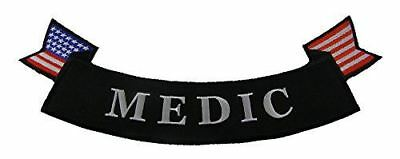 LARGE MEDIC BOTTOM ROCKER BACK PATCH DOC PARA EMT CORPSMAN MILITARY 1ST RESPONDE