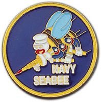 SEABEES ENAMEL CHALLENGE COIN