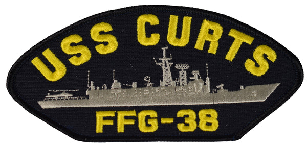 USS CURTS FFG-38 SHIP PATCH - GREAT COLOR - Veteran Owned Business