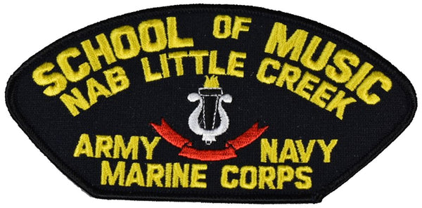 Little Creek School of Music Marine Navy Army Patch. Veteran Owned Business.