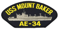 USS MOUNT BAKER AE-34 SHIP PATCH - GREAT COLOR - Veteran Owned Business