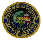 UNITED STATES OF AMERICA KOREAN WAR VETERAN 1950 - 1953 PATCH - COLOR - Veteran Owned Business - HATNPATCH