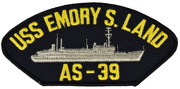 USS EMORY S. LAND AS-39 SHIP PATCH - GREAT COLOR