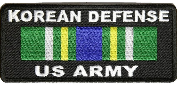 KOREAN DEFENSE U.S. ARMY WITH RIBBON PATCH