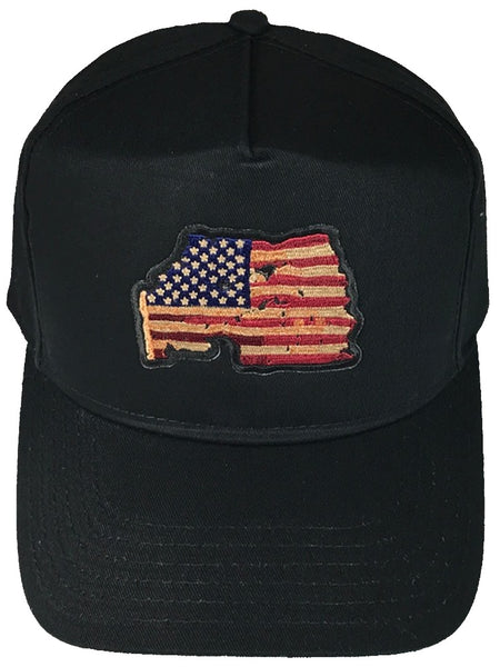 DISTRESSED AMERICAN FLAG HAT - HATNPATCH