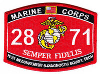 US Marine Corps 2871 Test Measurement & Diagnostic Equ MOS Patch