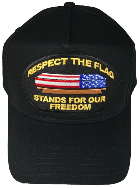 RESPECT THE FLAG STANDS FOR OUR FREEDOM WITH CASKET HAT