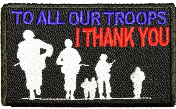 TO ALL OUR TROOPS I THANK YOU PATCH - HATNPATCH
