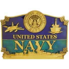 UNITED STATES NAVY - Cast Belt Buckle - HATNPATCH