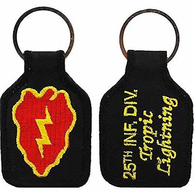 US ARMY 25TH INFANTRY DIVISION ID TROPIC LIGHTNING KEY CHAIN VETERAN STRYKER - HATNPATCH