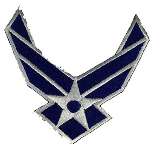 US AIR FORCE USAF WINGS CUTOUT PATCH - Color - Veteran Owned Business - HATNPATCH