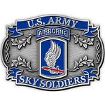 173RD AIRBORNE BRIGADE SKY SOLDIERS - Cast Belt Buckle
